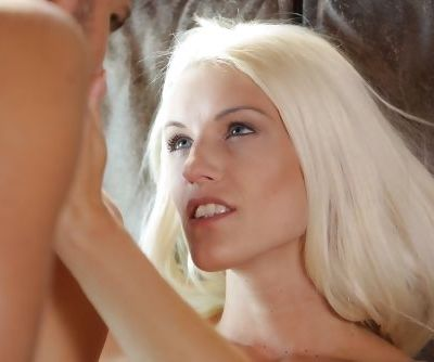 Busty blonde beauty Blanche Bradburry moans with pleasure during anal sex