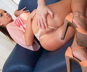 Clothed younger mom with nice legs undresses for sex for cash arrangement