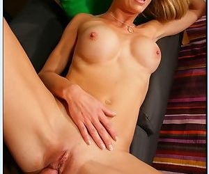 Lusty mom Brenda James gets fucked and facialized by her sons studly friend