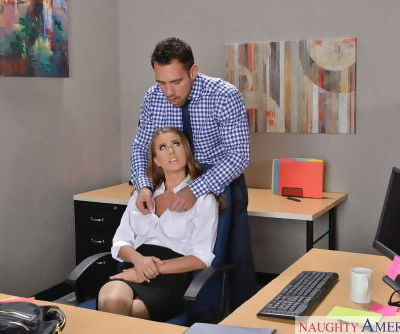 Office lady Jill Kassidy gets seduced by her boss and fucked on the table