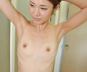 Adorable asian babe Wakana Asada getting naked and taking bath