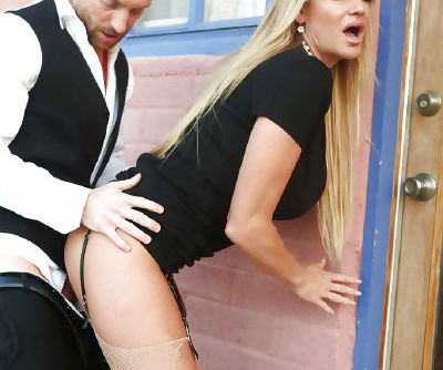 Curvaceous MILF Kelly Madison gives head and gets fucked outdoor