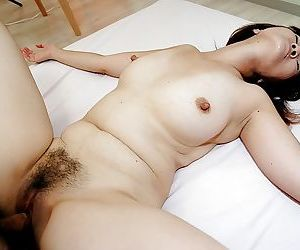 Lusty asian MILF with hairy gash Kimie Kuwata gets fucked and facialized