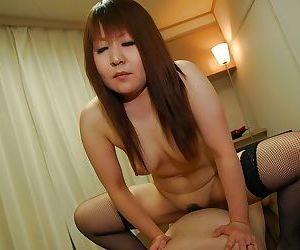 Kinky asian MILF in stockings has some face sitting and pussy fucking fun