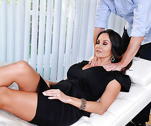 Busty Latina mom Ava Addams taking cumshot all over large knockers