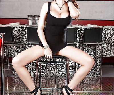 Clothed milf babe with big tits and tight ass Eva Karera masturbating