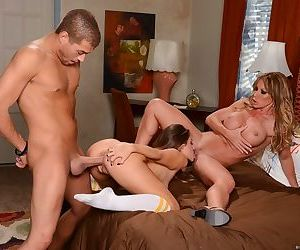 Stepmother Farrah Dahl and stepdaughter Cassidy Klein got one really big dick