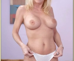 Mature babe Houston Uluvpunani denudes assets from jeans and lingerie