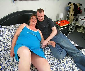 Guy wants granny and old female wants him so nothing can stop them bonking