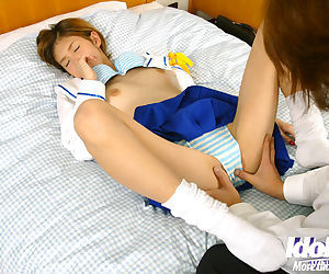 Kawai Megu takes a cumshot on her belly after hardcore fucking