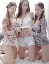 Young Czech hotties Parvin- Sasha and Zarina undressing each other