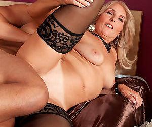 Horny mom Chery Leigh seduces a young boy for hard cock pleasures