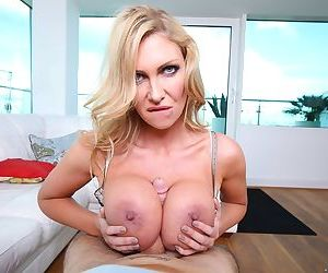 Leigh Darby gets to fuck her daughters boyfriend and make him cum.