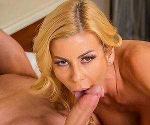 Busty Alexis Fawx gave blowjob followed by passionate fucking and cum in mouth