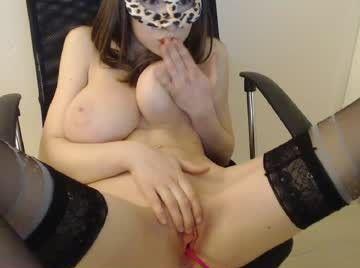 Big Tits fingering her clit