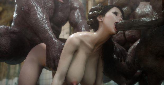 Monster Eater violada por ogros