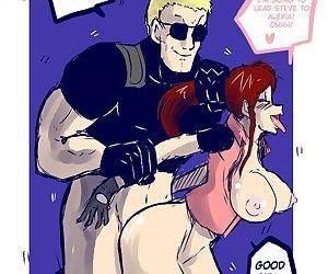 Resident Evil- Claire & Wesker