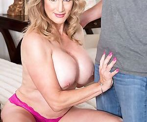 Sexy older woman Roxy Royce makes her porn debut in an old and young scene
