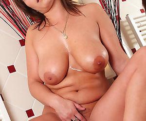 Sexy sophia rubs cream on her large titties - part 1879