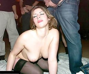Swinging wife fucked by one too many cocks - part 2484