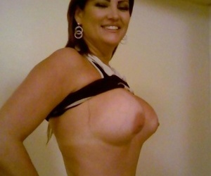 Naughty amateur housewives posing sleazy on cam - part 349