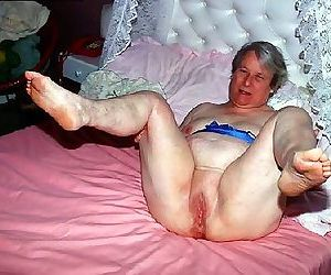 Kinky older amateur grannies poser - part 1731