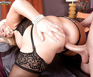 Busty mature Jenna Bouche takes younger cock for a wild ride - part 2