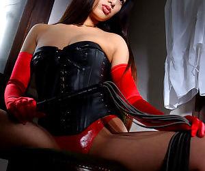Pretty asian babe Ran Asakawa showing off her small titties