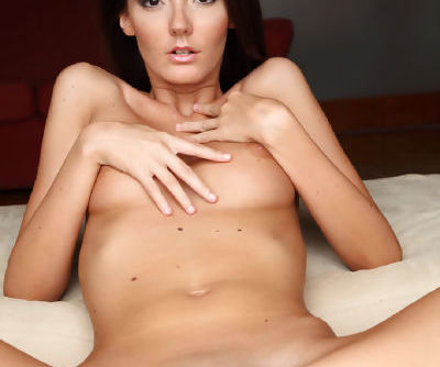 Slender brunette stunner with perfect tits Sunshine loves stripping - part 2