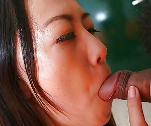 Horny asian chick Terumi Irie has some pussy fingering and plowing fun