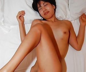 Lewd asian girl Hikaru Sugawara gets her hairy pussy licked and boned-up