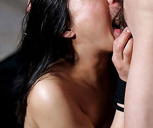 Lovely Japanese girl with sexy nipples got her face fucked
