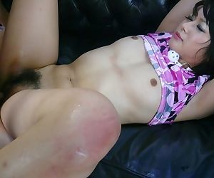 Japanese chick Mito Ayase is bound and gagged before being banged