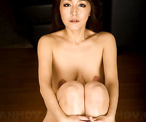Asian MILF Nao Kato gets naked and displays her saggy boobs & hairy snatch