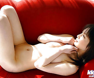 Cuddly asian babe Kanan Kawaii slowly taking off all of her clothes
