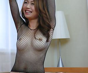 Busty Japanese chick Sara Seori sports a creampie after fucking