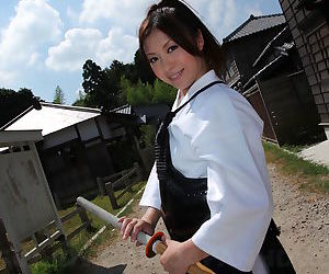 Japanese Kendo girl Jun Sena disrobed & fondled by martial art instructors