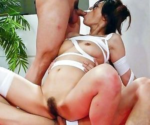 Ryo sasaki asian in strips sucks two cocks and gets vibrator - part 2797