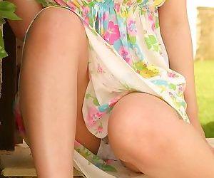 Busty japanese teen yui kurata outdoors shows tits - part 3690