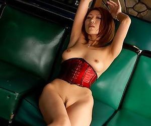 Asian idol jun kusanagi in red corset showing body - part 3856