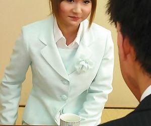 Japanese office babe asumi mizuno enjoying a penis - part 1028