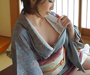 Japanese girl in a kimono dress - part 4106