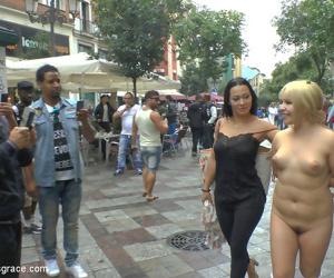 Japanese slut is humiliated and put on display in madrid - part 907