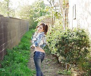 Incredible big tits japanese julia wearing a sexy bikini outdoors - part 4452