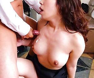 Japanese office slut chinatsu kurusu gives blowjobs at work - part 4080