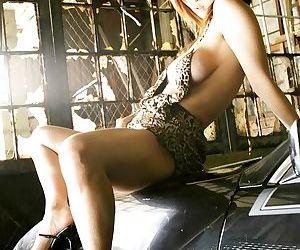 Japanese babe yuki touma poses on a car shows tits - part 3693