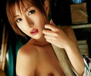 Asian kimono model nene showing her tits and pussy - part 1751