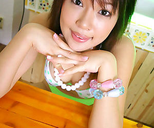 Miki uehara japanese cutie eating cummy desert - part 4345