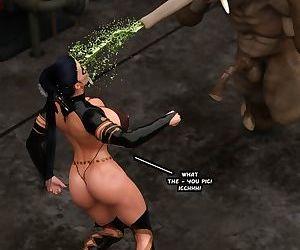 Captured Heroines- Moonbird vs Trunker