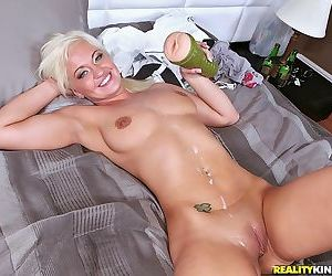 Smoking hot blodn milf wiht huge tits gets hardcore sex in bed - part 458